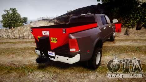 Dodge Ram 3500 Plow Truck [ELS] for GTA 4 back left view