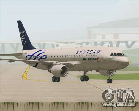 Airbus A320-200 Air France Skyteam Livery for GTA San Andreas bottom view
