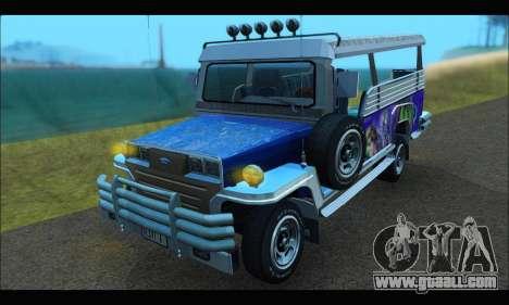 Jeepney from Binan for GTA San Andreas