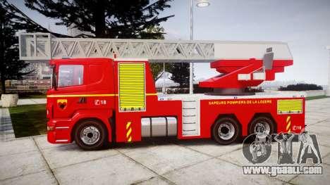 Scania R580 Paris Fireladder [ELS] for GTA 4 left view