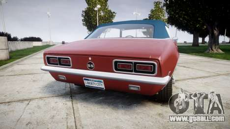Chevrolet Camaro Mk.I 1968 rims1 for GTA 4 back left view