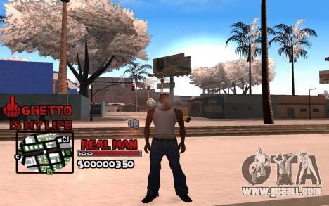 С-HUD Ghetto is My Life for GTA San Andreas