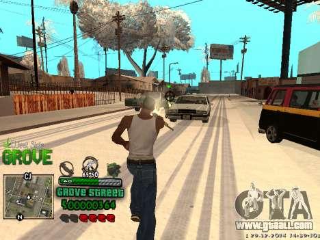C-HUD Grove Street for GTA San Andreas eighth screenshot