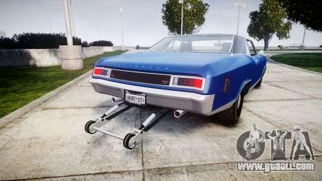 GTA V Albany Buccaneer Little Wheel for GTA 4 back left view