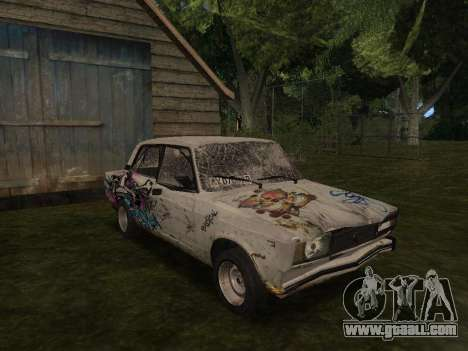 VAZ 2105 Rusty trough for GTA San Andreas back view