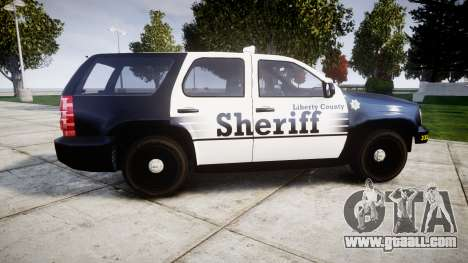Chevrolet Tahoe 2013 County Sheriff [ELS] for GTA 4 left view