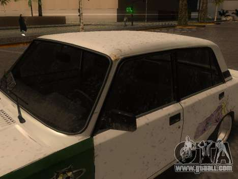 VAZ 2105 Rusty trough for GTA San Andreas back left view