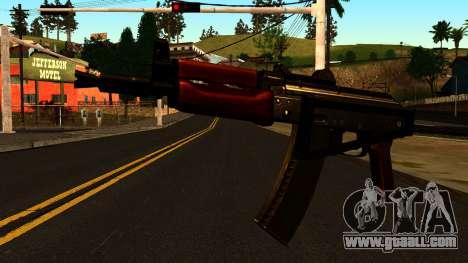 Dark AKS-74U v2 for GTA San Andreas