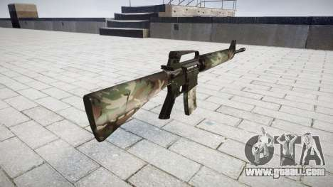 The M16A2 rifle woodland for GTA 4 second screenshot