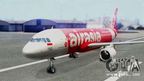 Air Asia Airbus A320 PK-AZF for GTA San Andreas