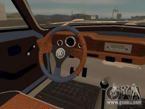 Volkswagen SP2 Original for GTA San Andreas interior