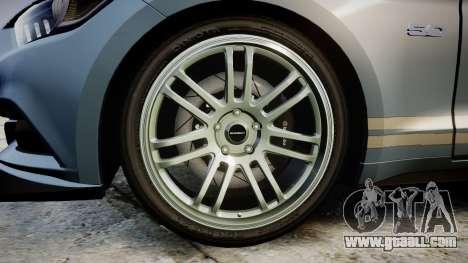 Ford Mustang GT 2015 Custom Kit gray stripes for GTA 4 back view