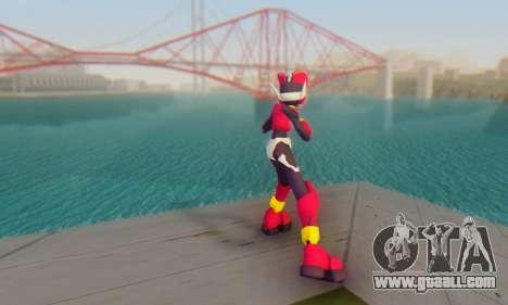 Zero From Megaman X4 for GTA San Andreas third screenshot