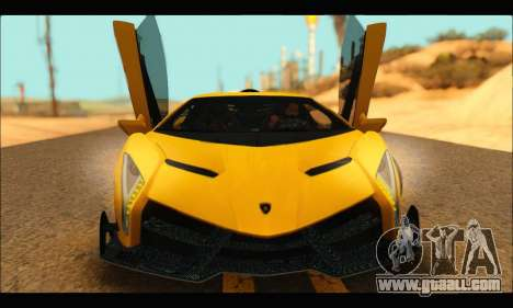 Lamborghini Veneno 2013 HQ for GTA San Andreas left view