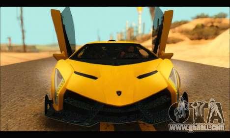 Lamborghini Veneno 2013 HQ for GTA San Andreas left view