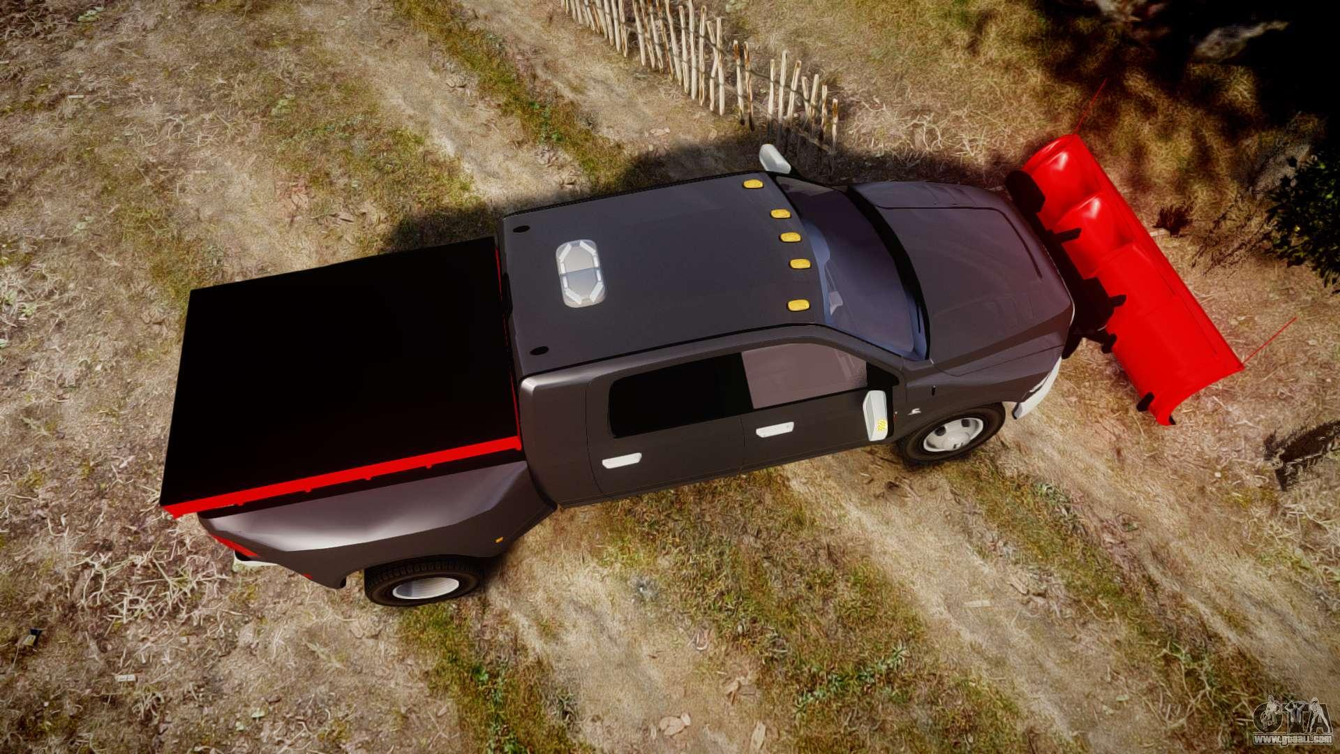 Dodge Plow Truck >> Dodge Ram 3500 Plow Truck [ELS] for GTA 4