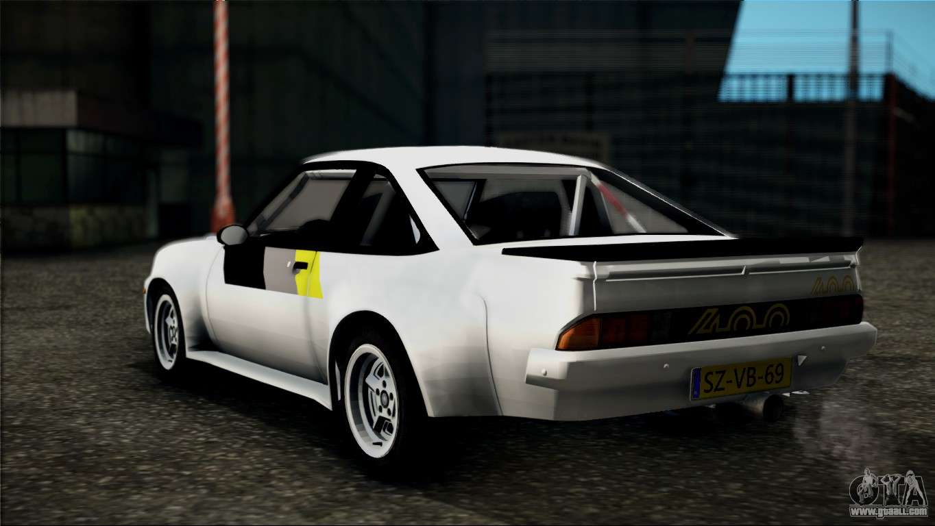 opel manta 400 for gta san andreas. Black Bedroom Furniture Sets. Home Design Ideas