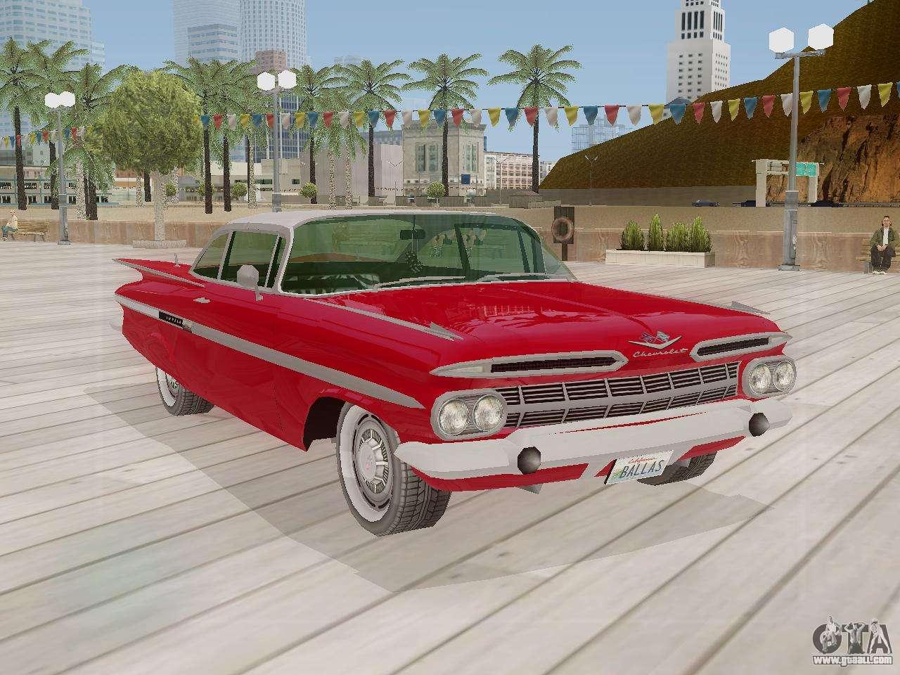 Chevrolet impala 4 door hardtop 1963 for gta san andreas - Chevrolet Impala 1959 For Gta San Andreas