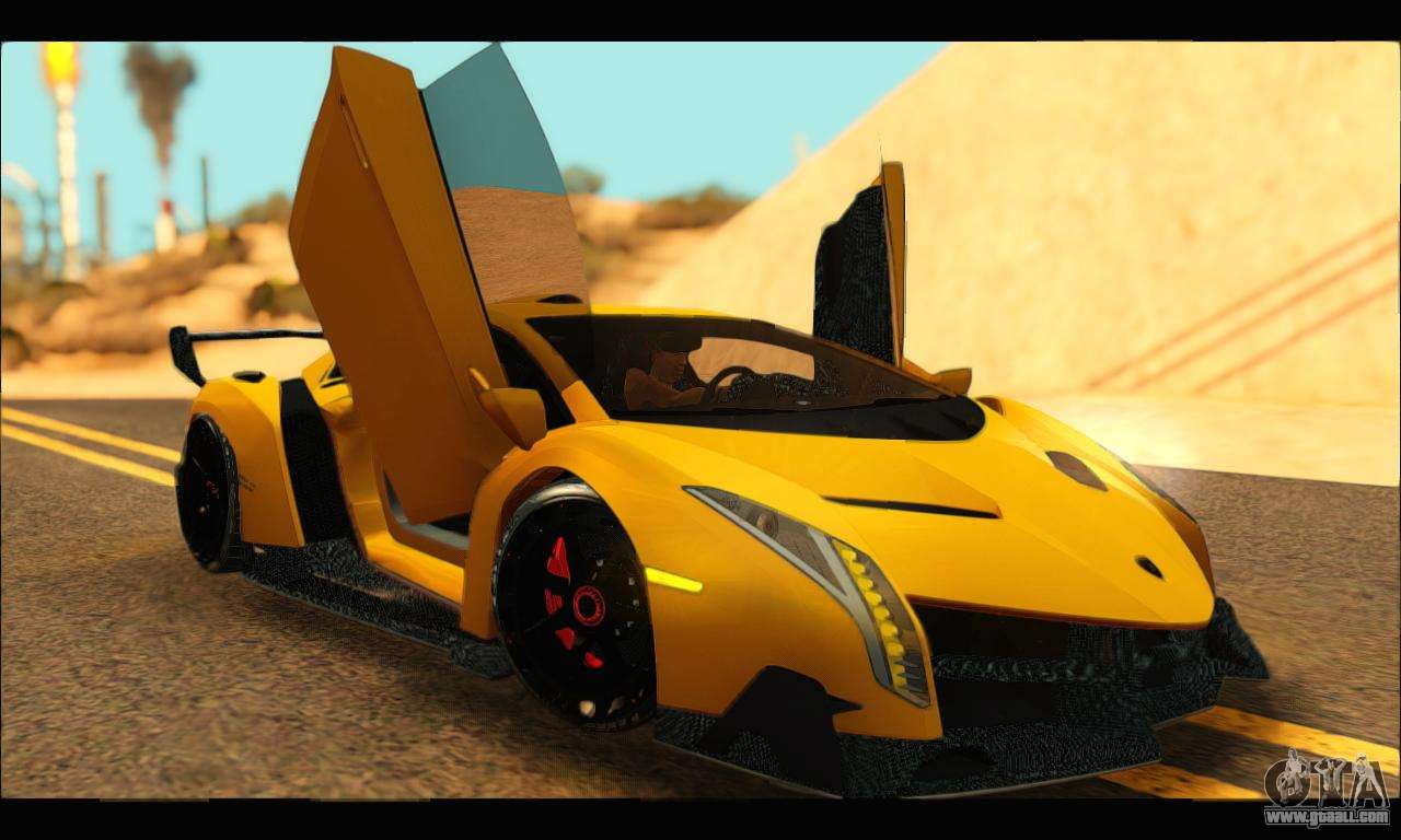 lamborghini veneno black and orange. lamborghini veneno 2013 hq for gta san andreas right view black and orange e