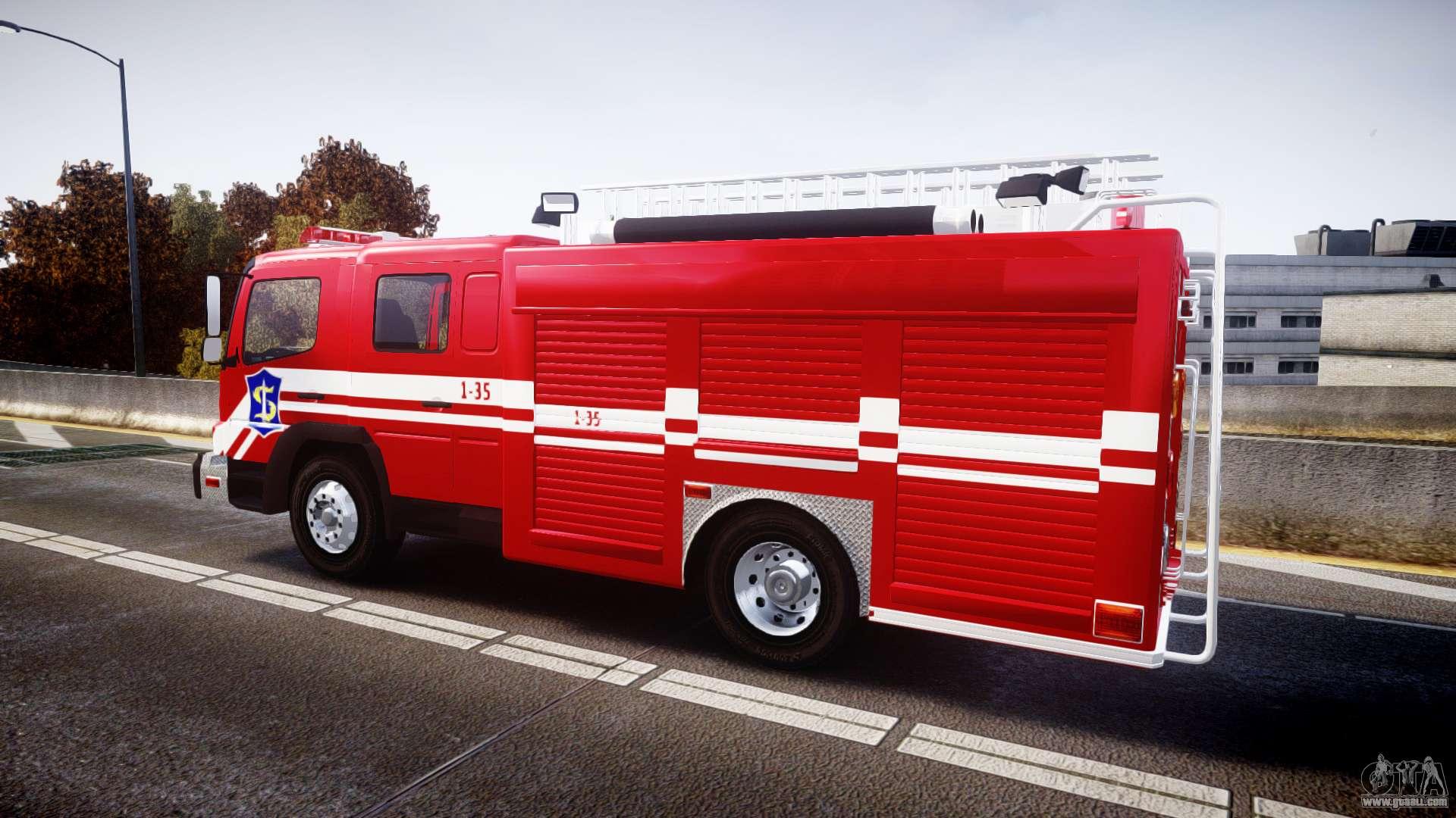 Mercedes benz atego indonesian fire truck els for gta 4 for 2014 mercedes benz truck