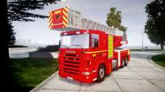 Scania R580 Paris Fireladder [ELS]