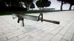 The M16A2 rifle icy