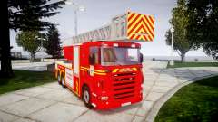 Scania R580 Marseille Fireladder [ELS] for GTA 4