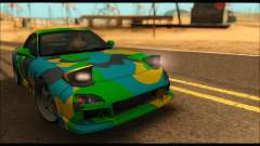 Mazda RX-7 Camo for GTA San Andreas