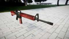 The M16A2 rifle red