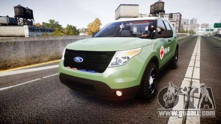 Ford Explorer 2013 Army [ELS] for GTA 4