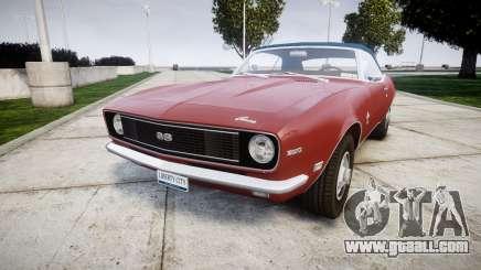 Chevrolet Camaro Mk.I 1968 rims1 for GTA 4
