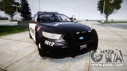Ford Taurus 2013 Georgia Police [ELS] for GTA 4