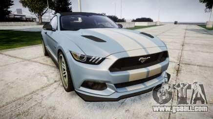 Ford Mustang GT 2015 Custom Kit gray stripes for GTA 4