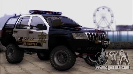 Jeep Grand Cherokee 1999 Sheriff for GTA San Andreas