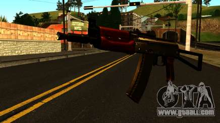 Dark AKS-74U v1 for GTA San Andreas