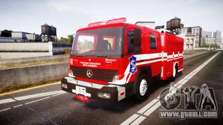 Mercedes-Benz Atego Indonesian Fire Truck [ELS] for GTA 4
