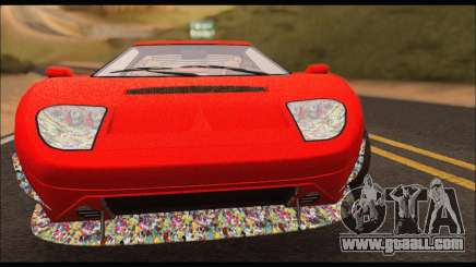 Vapid Bullet Gt (GTA IV) (Stickers Edition) for GTA San Andreas