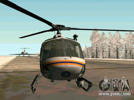 Bo 105 EMERCOM of Russia for GTA San Andreas back left view