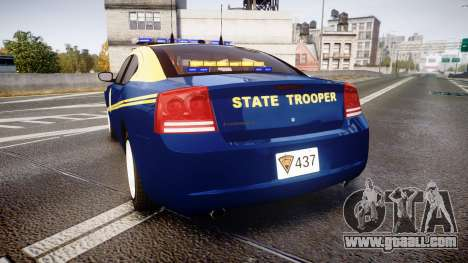 Dodge Charger West Virginia State Police [ELS] for GTA 4 back left view