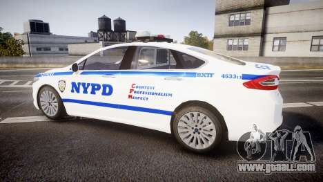Ford Fusion 2014 NYPD [ELS] for GTA 4 left view