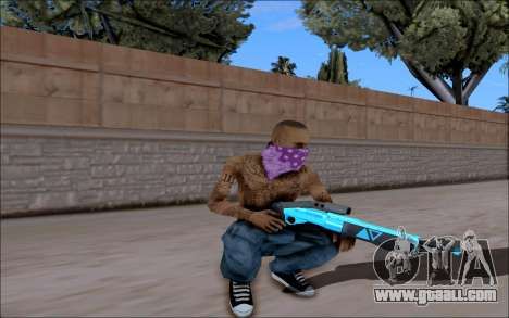 Blueline Gun Pack for GTA San Andreas fifth screenshot