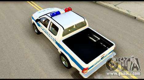 Toyota Hilux Georgia Police for GTA San Andreas back view