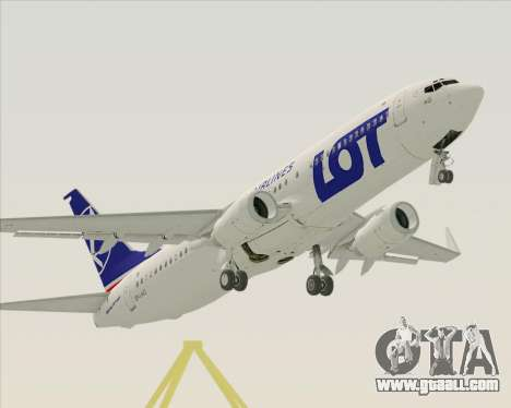 Boeing 737-800 LOT Polish Airlines for GTA San Andreas upper view