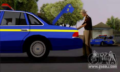 Ford Crown Victoria 1992 State Patrol for GTA San Andreas back left view