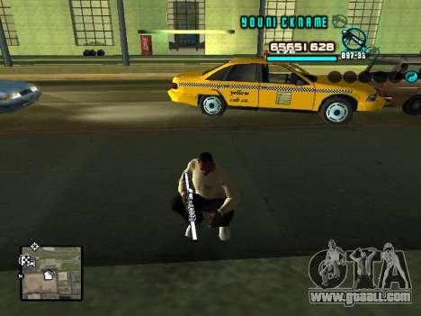 C-HUD Cosmos for GTA San Andreas second screenshot