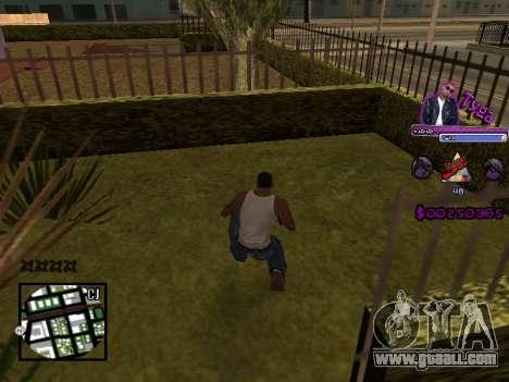 C-HUD by Tyga for GTA San Andreas second screenshot