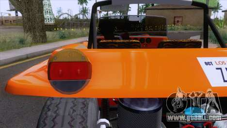 Volkswagen Dune Buggy 1975 for GTA San Andreas inner view