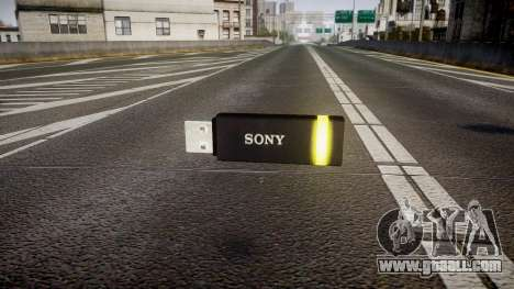 USB flash drive Sony yellow for GTA 4