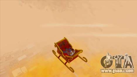 Santa Claus Sleigh for GTA San Andreas right view
