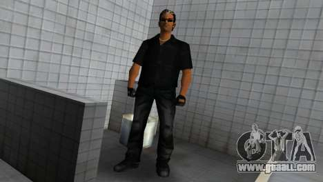 Tommy In Black for GTA Vice City third screenshot